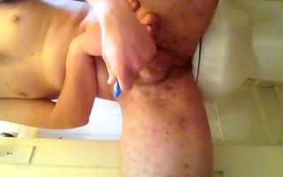 shaving and masturbating