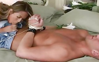 pierced playgirl t live without trio bondage oral