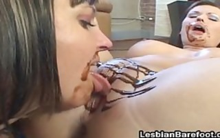 concupiscent lesbians playing with chocolate part0