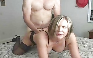 aged mother i teaching juvenile guy