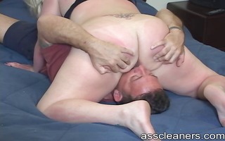 dude licks domme holes while bitch goddess sucks