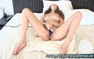 uses the vintage sex-toy on the couch squirting