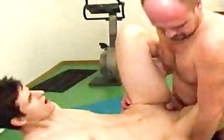 sledner pale homo and hairless hunk shagging in