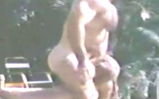 bruno hirsute muscle dad poolside