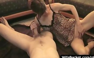 non-professional wife takes care of her