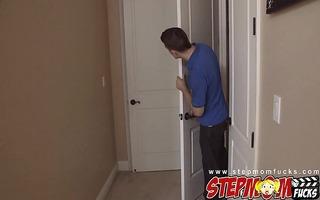 stepmom bianca breeze tricks younger pair into a