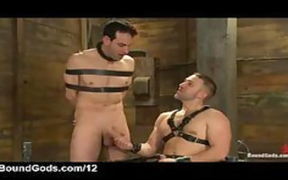thonged gay acquires cook jerking until cum from