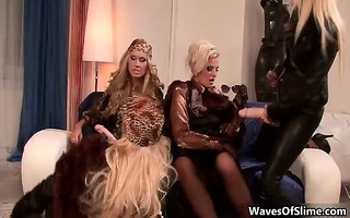 wicked golden-haired lesbian babes go avid