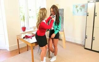 ultra titty teacher lesbo hotties teasin