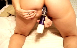 wife sextoy in a-hole