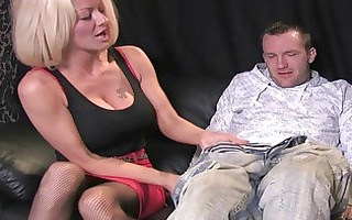 busty golden-haired d like to fuck in wild