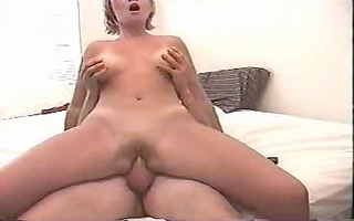 bald golden-haired mother i rides her boy