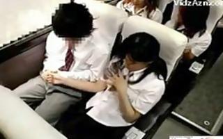 oriental schoolgirl hawt cook jerking in bus