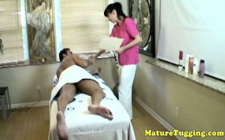breasty cougar masseuse tugging pounder