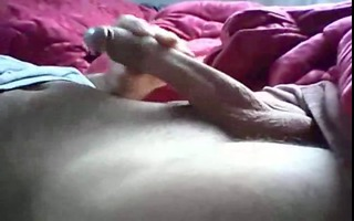 large uncut knob masterbating