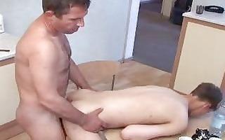pale twink and matura homo dad having homosexual