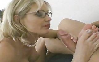 breasty mother i in glasses receives shoved hard