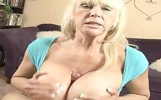 tanned golden-haired momma with biggest hooters