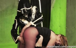 master spanks his sex bondman in her pantyhoes