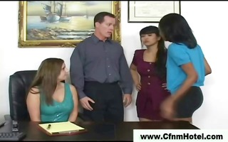 nasty cfnm babes love face sitting