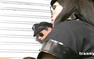 bunch of horny transsexual cops group-sex unlucky