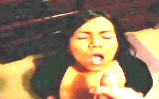 latin chick wife t live without cum on her face