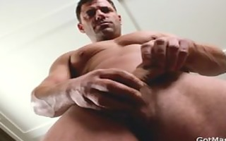 strong muscled homosexual boy beating off part4