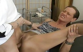 older non-professional wife anal fuck with