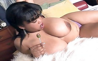 mega breasted swarthy mother i shows off her