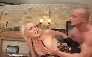 tight golden-haired euro chick destroyed