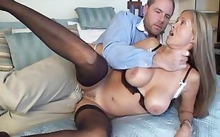 whorish blond mother i in sexy dark underwear