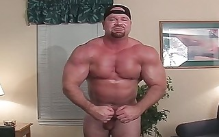 rock hard gay body builder shows off his hawt body