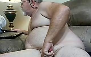 grandad plays with thick knob