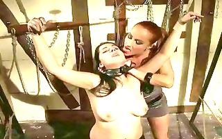 chic female-dom punishing breasty angel
