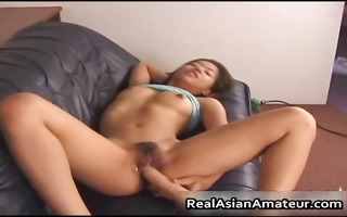 oriental gal receives hawt time with her sex tool
