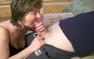 slutty blow job with hot mature
