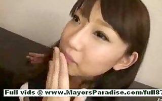 shiori hazukmature oriental wench at work