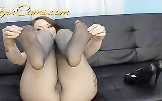 ashton pierce big pantoons panthyhose fetish