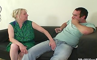 concupiscent oldie seduces him whilst his wife