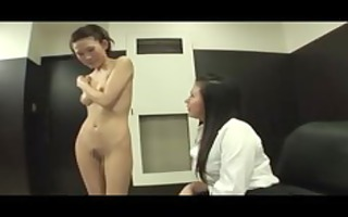 sinless office lesbo undresses