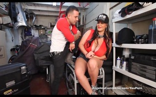 large titted angelina castro copulates &