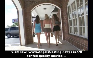 lesbian threesome with college beauties