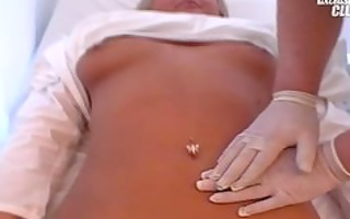 golden-haired chunky mariana pussy speculum exam