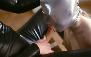 luxury dong lesbs in mask playing