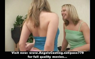 superb hot lesbo beauties walking and talking