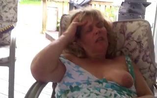 horny older masturbates at home