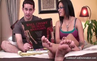 foot fetish coed peer tutor