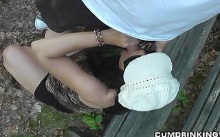 slutwife copulates with strangers at public park