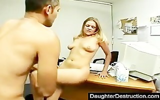 cutie legal age teenager daughter widen her bawdy