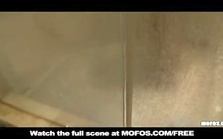 dilettante young latin chick wife caught in shower